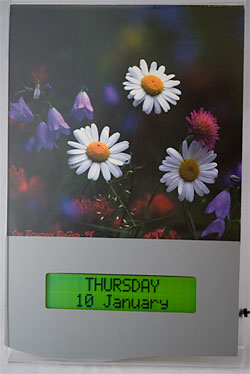 Picture of Forget-me-not electronic calendar